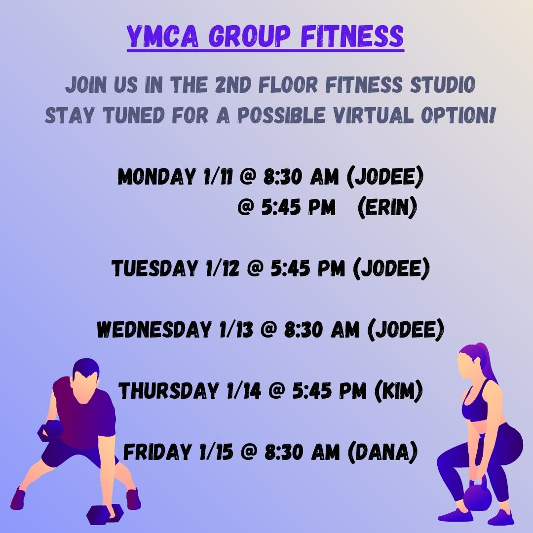Group Fitness Land Classes Jan 2021