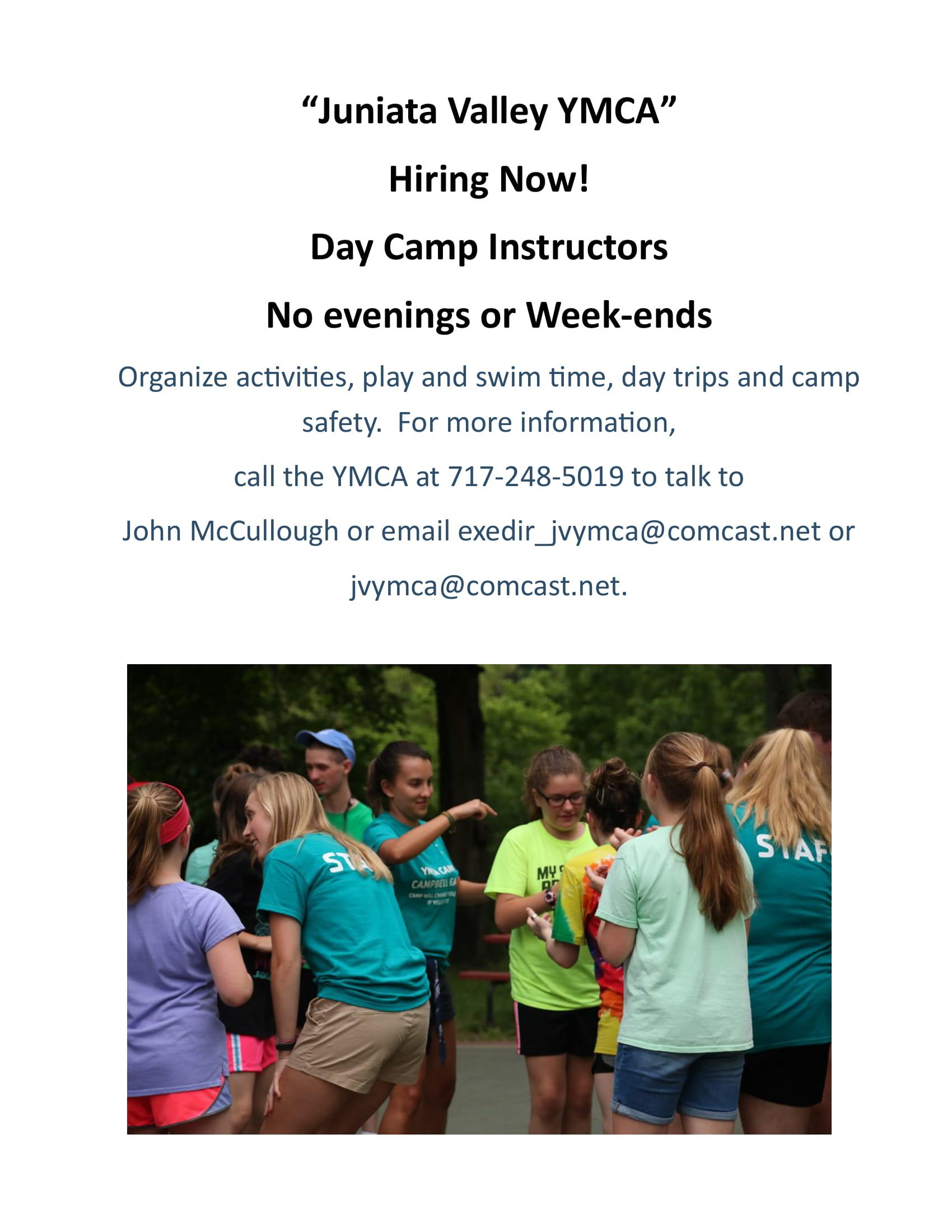 JVYMCA Day Camp Hire Poster
